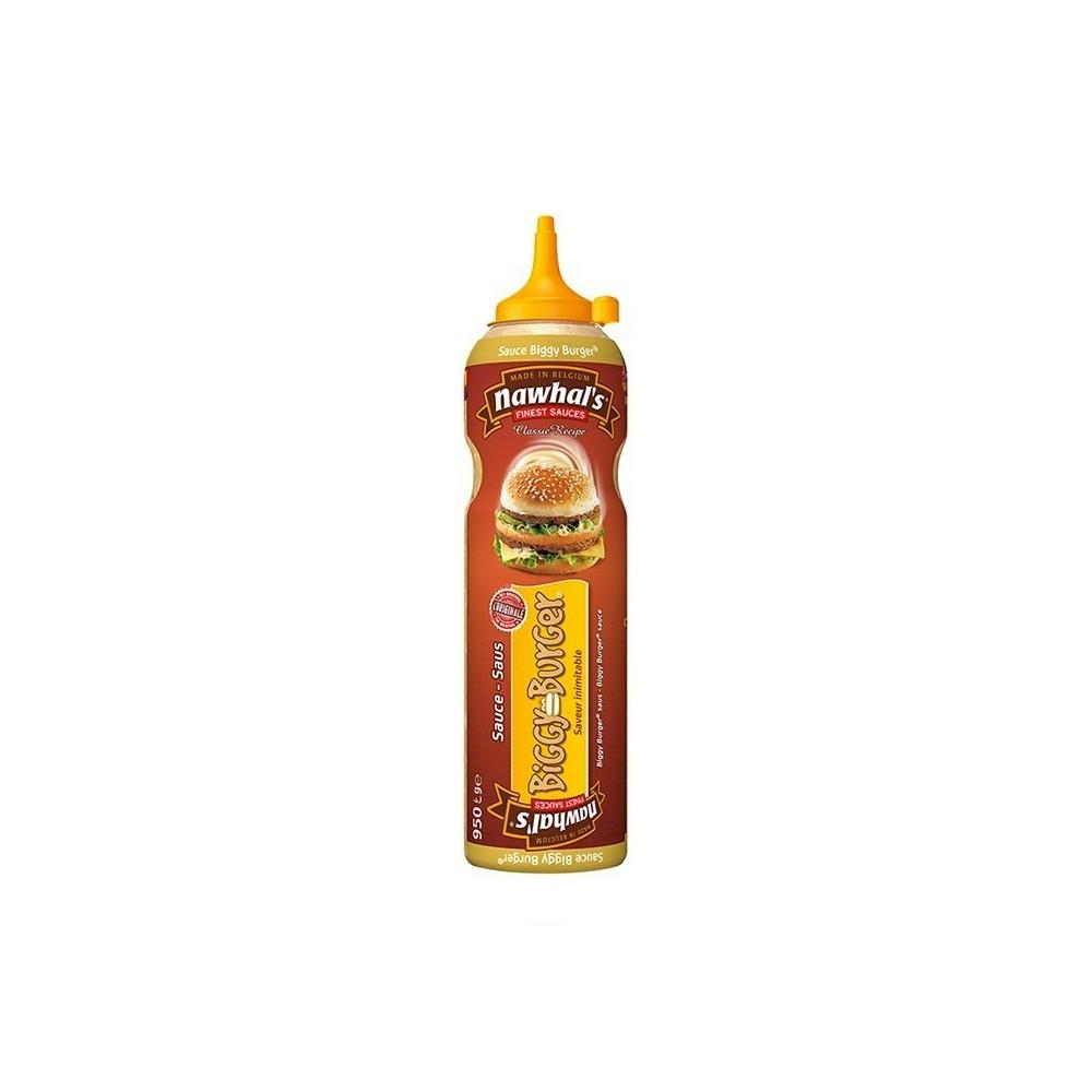 Tube plastique de sauce biggy burger nawhal's 950 ml