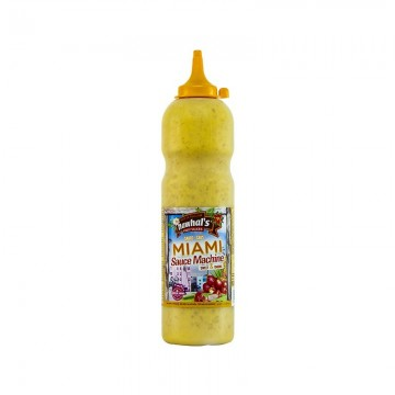 Tube plastique de sauce miami nawhal's 950 ml