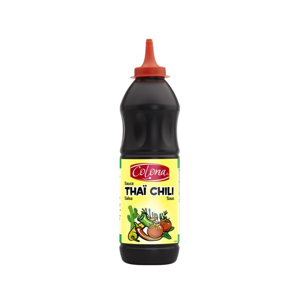 Tube plastique de sauce thai chili colona 500 ml