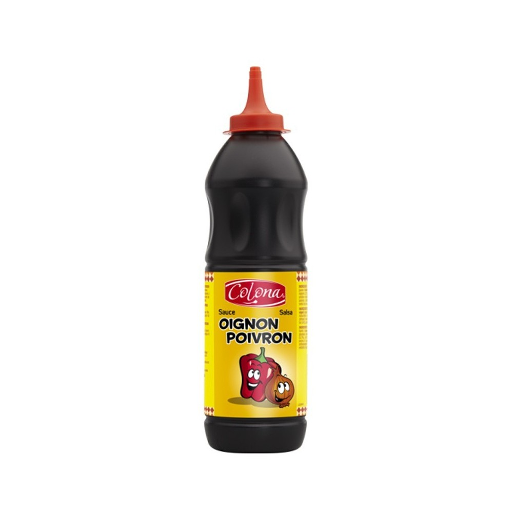 Tube plastique de sauce OIGNON POIVRON colona  890 G