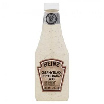 Tube plastique de sauce BLACK PEPPER RANCH ( POIVRE NOIRE ) HEINZ  875 ml