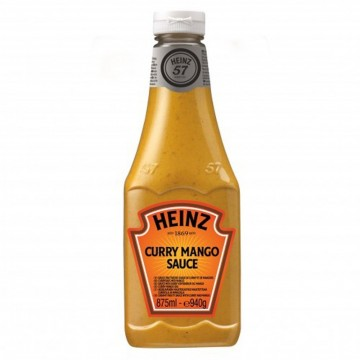 Tube plastique de sauce curry mango heinz  875 ml