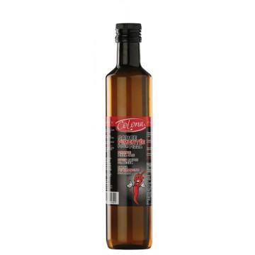 bouteille plastique d'huile pimentée pour pizza 500 ml
