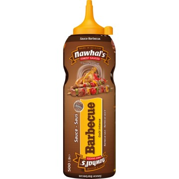 Tube plastique sauce barbecue nawhal's 500 ml
