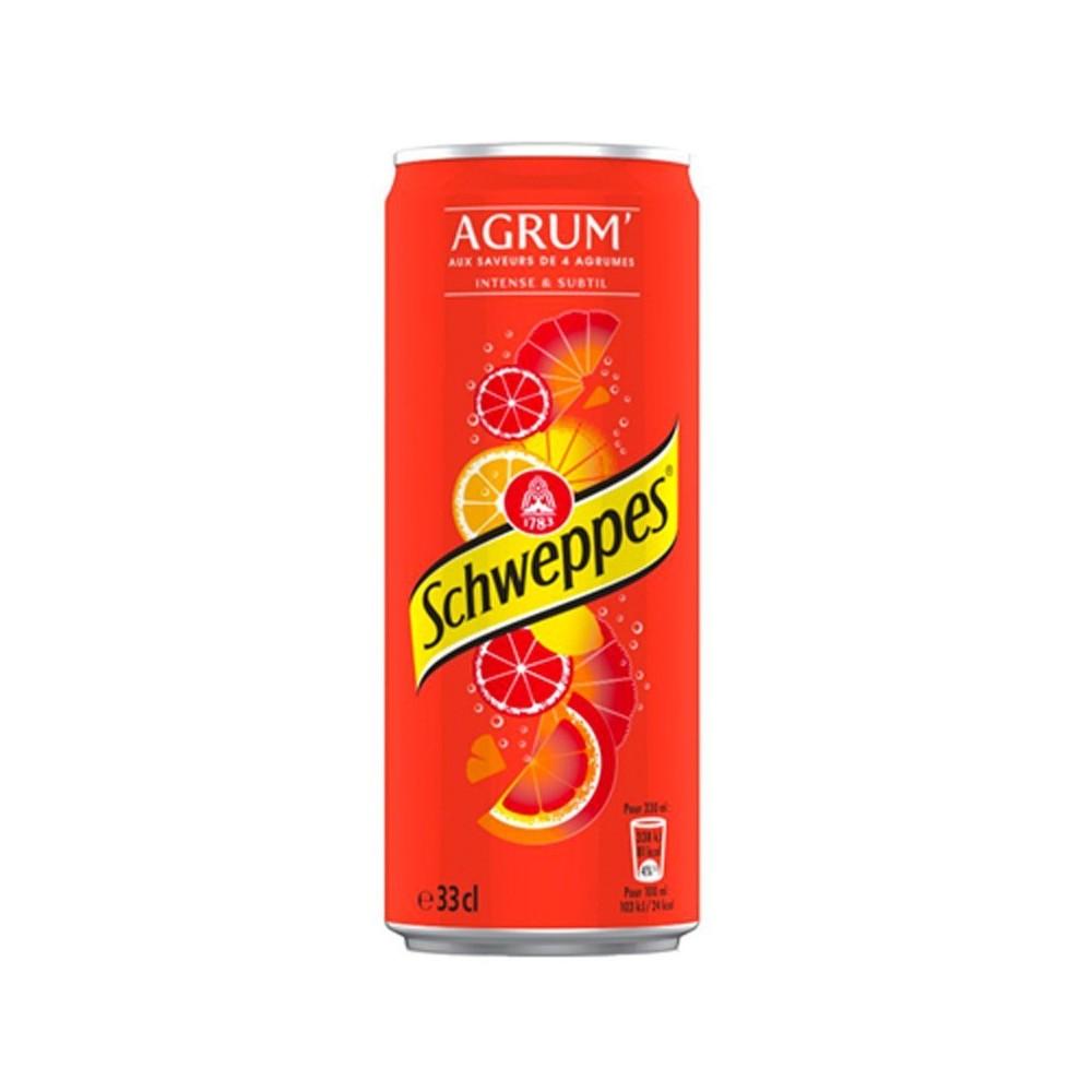 canette de boisson schweppes agrume 33 cl