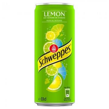 canette de boissons schweppes lemon 33 cl