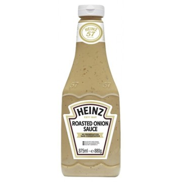 Tube plastique de sauce roasted onion heinz 875 ml
