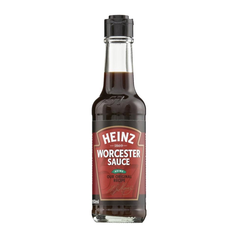 bouteille en verre de sauce worchester heinz 150 ml