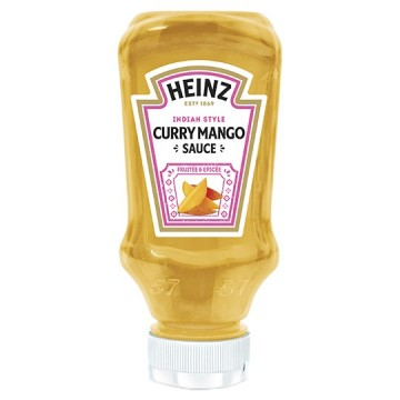 Petit tube plastique de sauce curry mango heinz  220 ml