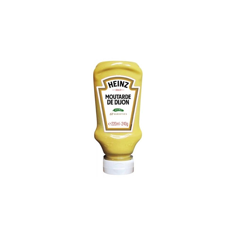tube plastique de moutarde de dijon heinz 220 ml