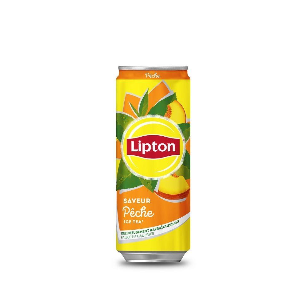 canette lipton icetea pêche 33 cl format slim